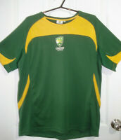 CRICKET AUSTRALIA MENS SIZE XL OFFICIAL CRICKET JERSEY GREEN POLYESTER FREE POST