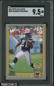 2001 Topps Collection #350 LaDainian Tomlinson Chargers RC Rookie SGC 9.5 MINT+