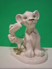 LENOX SIMBA and ZAZU sculpture NEW in BOX with COA Disney Classic LION KING