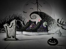 Vans Disney's Nightmare Before Christmas Sk8-Hi Zip Glow Sneakers Kids Size 12