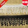 1y Crochet Lace Trim Ribbon Embroidered Applique DIY Wedding Dress Sewing