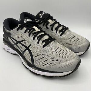 Asics Gel Kayano 24 Men's Size US 9.5 Athletic Running Shoes Silver/Black T749N