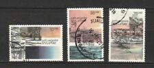SINGAPORE 1978 PARKS & GARDENS COMP. SET OF 3 STAMPS IN FINE USED CONDITION