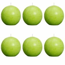 #sbolsius Ball Rustic Candle Sphere Lime 80mm 6 Pcs Set Bright Wedding Party