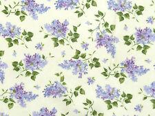 Stoffe Flieder Blätter Blüten Rispen Fliedersträuße lila creme Pastell 30x1,12