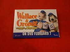 Wallace & Gromit Curse of the Were-Rabbit Promotional Button Pin Back Promo