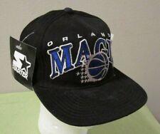 9230120bdd2f0 VTG NWT Starter NBA Orlando Magic Spellout Script Logo Black Hat Cap  Snapback