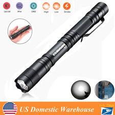 High Bright Portable LED PenLight Mini Medical Pen Light Clip Flashlight Lamp