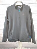 Reebok Performance Fleece 1/2 Zip Pullover Mens Sz Large Black (hd)
