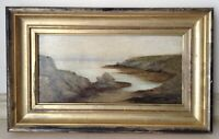 19th Century Oil French Impressionist Painting Britain Seascape Maurice PROUST