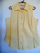 Columbia  Women's 1X Yellow Sleeveless Casual Top Blouse