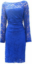 Ralph Lauren lace blue stretch elegant evening or day occasion event party 16P