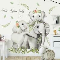 Elephant Family Animal Wall Stickers Kids Art Nursery Baby Cot Decal Decor DIY
