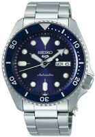 Seiko 5 Sports Blue Dial Silver Stainless Steel Automatic Mens Watch SRPD51K1