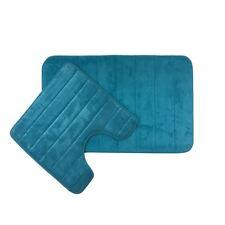 SOFT MEMORY FOAM JADE TEAL DURABLE ANTI-SLIP BATH AND PEDESTAL MAT