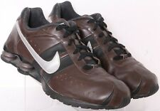 Nike 315785-201 Shox Turbo 105 Brown Leather Lace-Up Running Shoes Men's US 15
