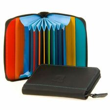 Mywalit Leather Concertina Styled Credit Card Holder Boxed Black Pace