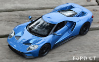 Welly 1:24 2017 Ford GT Concept Diecast Model Sports Racing Car Vehicle Blue