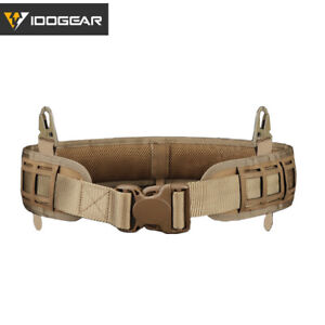 IDOGEAR MOLLE Tactical Belt Quick Release Laser Cut Loading Padded Inner & Outer