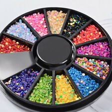 1 Box Laser Nail Art Sequins Glitter Decor Manicure Tip Round Shape Colorful 1mm