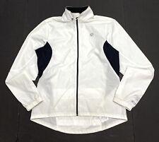 PEARL IZUMI Select Windbreaker Cycling Running Jacket Womens Size L White Nylon