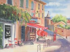 Provence Village Store Front Painting Original Oil on Canvas Boulangerie Whitney