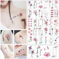 30 Sheets Temporary Tattoo Stickers Waterproof Letters Flowers Body Art Tattoos