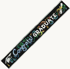 GRADUATION BANNER CONGRATS! GRADUATE PARTY SUPPLIES FOIL STREAMERS BANNER