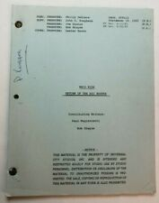 "WHIZ KIDS / Paul A. Magistretti 1983 TV Script, ""Return of the Big Rocker"""
