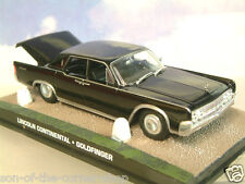 DIECAST 1/43 JAMES BOND 007 LINCOLN CONTINENTAL IN BLACK GOLDFINGER'S STUD FARM