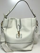 NWT Tommy Bahama Woman's Leather Hobo, White Color - Adjustable/Detachable Strap