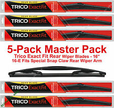 "5-Pack Trico 16-E (x5) 16"" Rear Wiper Blades Fit Snap Claw Rear Wiper Arm"
