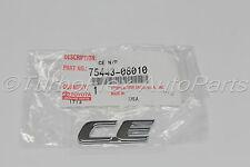 Toyota Sienna CE Back Door Emblem Genuine OEM    1998-2010      75443-08010