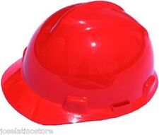 MSA RED V-Gard Cap Style Safety Hard Hat Ratchet Suspension NEW Fast Shipping!