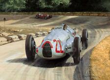 1938 Italian Grand Prix, Auto Union Tazio Nuvolari door Graham Turner