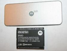 OEM Motorola Backflip Back Cover Door + Battery BN80