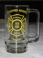 VINTAGE 1920-1980 STANFORD HEIGHTS FIRE DEPT NISKAYUNA  COLONIE 60 AN GLASS  MUG