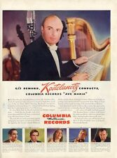 "1945 Columbia Records Print Ad features Andre Kostelanetz Conductor ""Ave Maria"""
