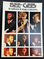 BEE Gees To Whom it May Concern Sheet Music 1973 64 pages