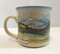 Otagiri Coffee Mug Cup Cabin Mountains Forrest Scenic Sheila Brown Japan Vintage