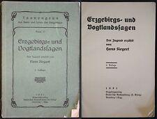 Siegert Tannengrün Erzgebirgs- &Vogtlandssagen 1931 Fichtelberg Annaberg xz