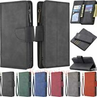 For Samsung S20 S10 S9 Plus A20 A51 Magnetic Leather Wallet Case Cover Removable