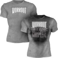 Workout 100% Complete | Gym Fitness Mens Sweat Activated Motivational Tee Shirt