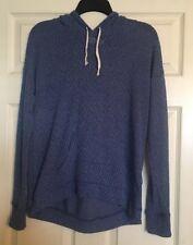 Hollister Womens Blue Long Sleeve Hoodie Sweater Size XS/S Lightweight