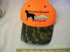 Ten Lakes Kennels Orange Camo Adult Baseball Hat Bemidji,MN EUC Hunter's Dog