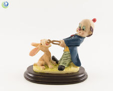 Dental Office Dentist Figurine Decoration Clown With Rabbit Patient Hand Painted