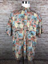 Panama Jack Resort Multi Color Novelty Men's Short Sleeve B/F Shirt XL