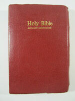 Holy Bible Dictionary Concordance Red Letter Edition KJV Nelson 162R 1984