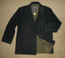 CONVERSE JOHN VARVATOS Heavy WOOL Winter Jacket BLACK PeaCoat CAMO Lined Men 2XL