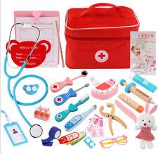 Arztkoffer Kinder Holz Arzt Spielzeug Medizinisches Doktor Rollenspiele NEU